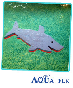Shark Swim Mat Large