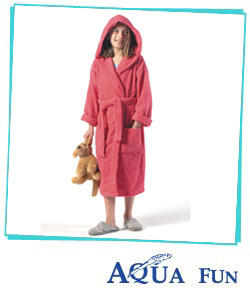 Childrens Hooded Bathrobes